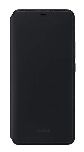Huawei Wallet Cover, passend für Mate 20 Pro Schwarz Wallet Case Cover