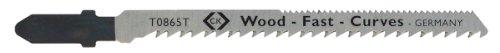 C.K T0865T Lame per seghetto alternativo - tipo T per legno, tagli curvi particolarmente puliti, confeziona da 5