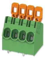 TERMINAL BLOCK, WIRE TO BRD, 4POS, 10AWG PLA 5/ 4-7,5-ZF By PHOENIX CONTACT