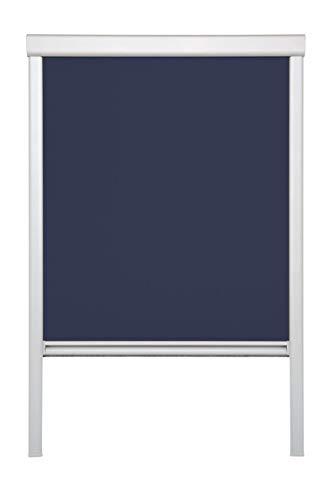 Lichtblick Dachfenster-Rollo Skylight, 38,3 x 54,0 cm (B x L) in Blau, 100% Verdunkelung, Thermo-Rollo für Velux-Fenster, Sonnen-, Hitze- & Sichtschutz (C02)