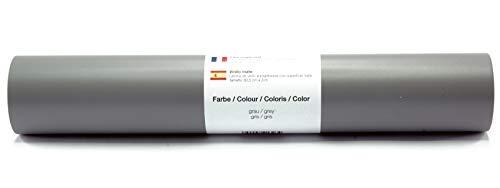 Selbstklebende Wandtattoo-/ Plotterfolie Vinylfolie matt 30,5 cm x 3 m - Farbauswahl Grau matt