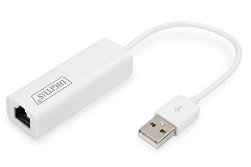 DIGITUS Netzwerk-Adapter über USB 3.0 - Gigabit-Ethernet 1 GBit/s RJ45 - Zusätzlicher LAN-Anschluss über USB-A Stecker Über Usb