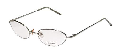 Vera Wang V06 Optische Brille für Damen/Junge Frauen/Mädchen mit Katzenauge, halber Rand, hergestellt in Japan