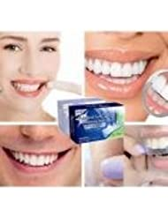 QHJ 28PCS Teeth Whitening Strips with Teeth Shade Guide and English manual (White)