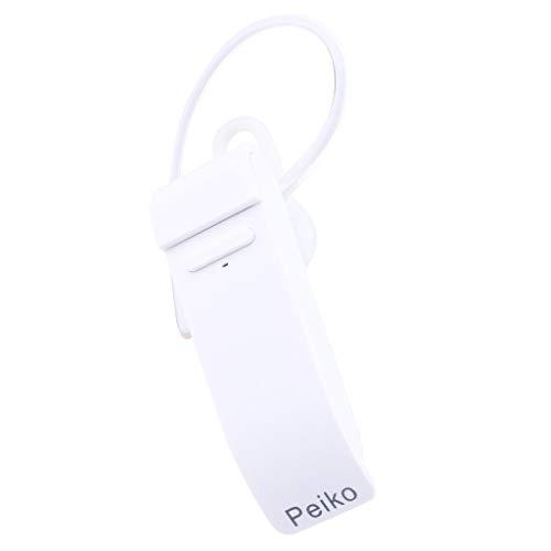 Mehrsprachige Übersetzung Bluetooth Wireless Headset tragbares Business-Headset 16 Sprachübersetzung-Headset,Bluetooth-Smart-Headset für die Echtzeitübersetzung von Andriod und iOS-Systemen (White) (Portugiesisch-deutsch übersetzer)