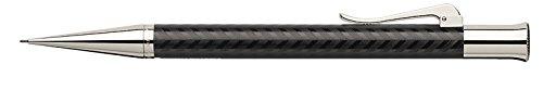 Graf Von Faber Castell Guilloche Chevron - Portamina, color negro y plateado