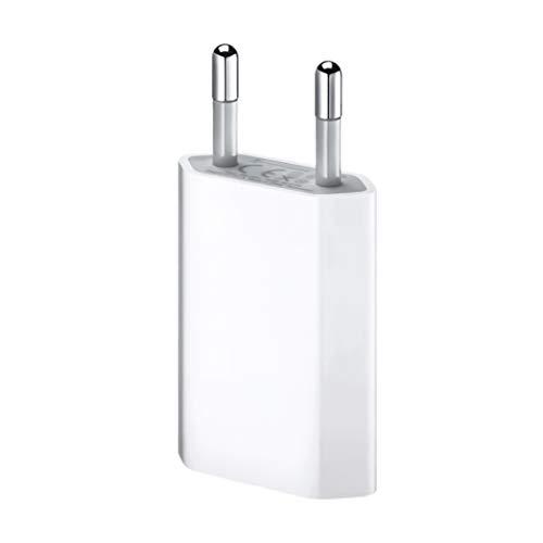 ultrapower100 Carica Batteria per iPhone [Garanzia a Vita] Compatibile per iPhone 5 5C 5S 6 SE 6S 7 8 X XS XR XS Max - Nuova Spina Alimentatore Muro Caricabatterie 1A 5W A1400 EU