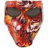 Vhccirt Persönlichkeit Schutzmaske Schädel / Zombie / Reaper Gesicht Airsoft / Paintball / Motorrad Flammen der Hölle -