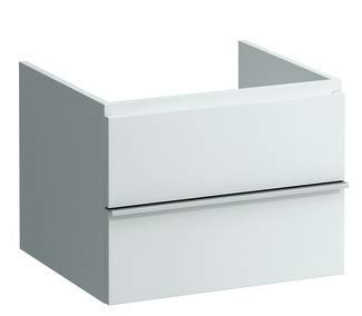 Laufen Case Schubladenelement, 2 Schubladen ohne Siphon, 435x595x520, Farbe: Gekalkte Eiche