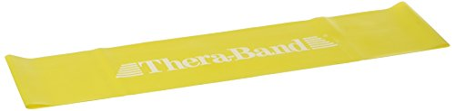 Thera-Band® Loop, gelb - dünn, 30,5 cm flach liegend
