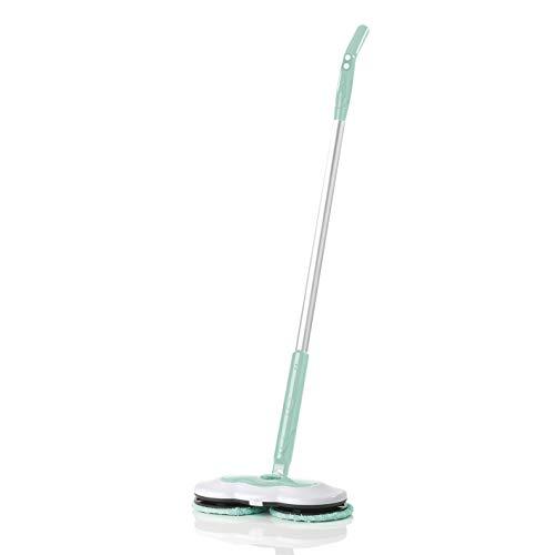 CLEANmaxx Spray-Mopp inkl. Akku | 40 min Akkulaufzeit, 2 rotierende Reinigungs-Pads | 150ml Wassertank { Hochwertig verarbeitet, türkis] -