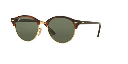 Ray-Ban RB4246 CLUBROUND 990 51M Red Havana/Green Sunglasses