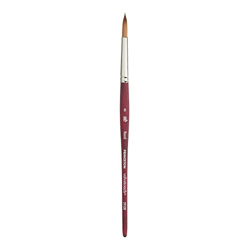 ca0bfc212dbd6 Princeton Velvetouch Artiste, Mixed-Media Brush for Acrylic, Watercolor &  Oil, Series 3950 Round Luxury Synthetic, Size 8