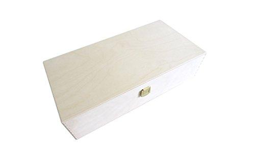 Geschenksbox aus Holz, Weinkiste mit Klappdeckel, Aufbewahrungsbox