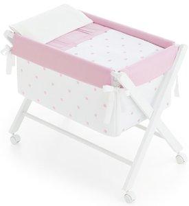 Bimbi Romantic - Vestidura minicuna, color blanco y rosa