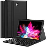 CHESONA Samsung Galaxy Tab S4 10.5 Case with keyboard, Slim Folio PU Leather Stand Cover with Removable Wireless Keyboard Case for Samsung Galaxy Tab S4 10.5 Model SM-T830/T835/T837 2018 Release Black