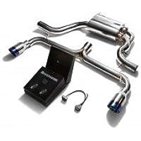 armytrix rendimiento deportivo Golf MK6 GTI Tubo de escape Sistema de escape Dual azul con revestimiento