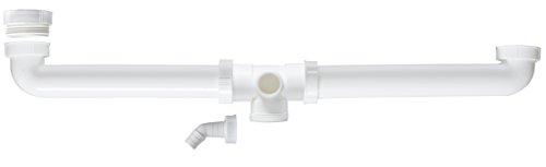 Bad Doppelwaschbecken (Cornat T353910  Spültisch-Ablaufverbindung, 1 1/2 Zoll, zentriert)