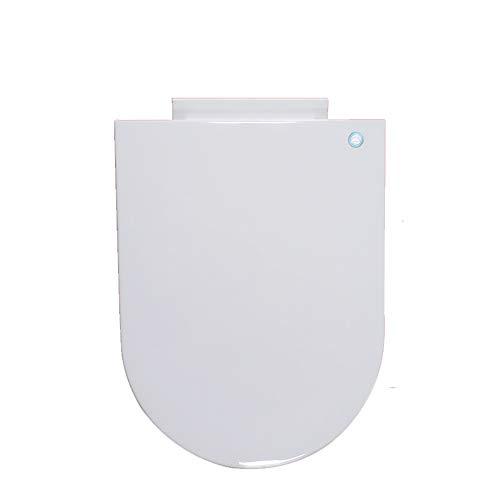 Arayacy coperchio wc bianco, cerniera regolabile a sgancio rapido bagno per uso domestico,largeushape