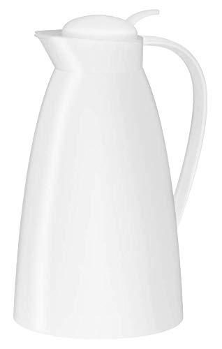 alfi 0825.010.100 Isolierkanne Eco, Kunststoff gefrostet Weiß 1,0 l, 12 Stunden heiß, 24 Stunden kalt