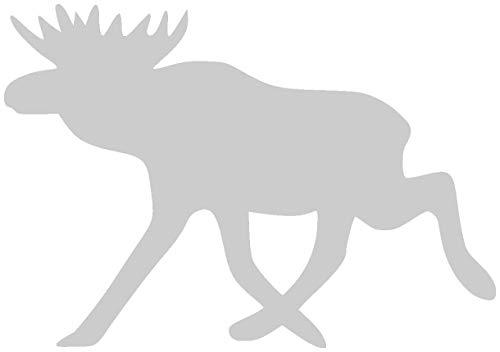 Samunshi® Elch Aufkleber Elchaufkleber (Motiv 2) in 6 Größen und 25 Farben (10x7cm silbermetalleffekt)