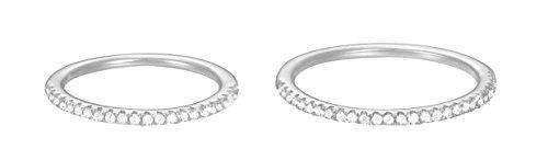 Esprit Damen-Ring JW50217 925 Silber rhodiniert Zirkonia weiß Rundschliff