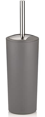 Kela 22276 WC-Bürste und Behälter, 36,5 cm Höhe, Kunststoff, Matt, WC-Garnitur, Marta, Grau