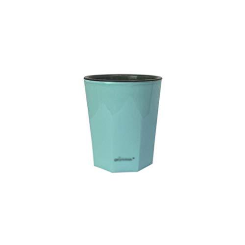 CBing-Indoor decorations Kleiner Blumentopf, Desktop-Topf-Innenblumenbehälter-Kaktus-Kamelie-Blumentopf-automatische Bewässerungsfunktion (Farbe : Ice Blue) Ice Blue Vase