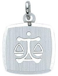 Silber 925 Sterling Silver Sternzeichen Anhänger - Waage - B. 10,9 mm - H. 10,9 mm