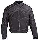 Men Motorcycle Textile Jacket Waterproof with CE Protection Black (3XL)