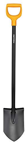 fiskars vanga a punta per terreni duri e sassosi, lunghezza 117 cm, acciaio/plastica, nero/arancione, solid, 1003455