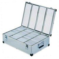 Neo Aluminium, CD/DVD, Box, Storage, 1000, CDs, with, sleeves
