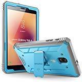Custodia Samsung Galaxy Tab A 8.0 2017 - Poetic [Serie Revolution] - Custodia Protezione Ibrida Completa con incorporato Proteggi Schermo per Samsung Galaxy Tab A 8.0(2017),blu