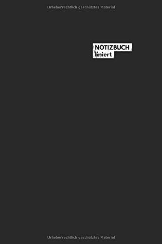 Notizbuch liniert: Notizbuch Liniert mit Linien / Lined Notebook (6x9) A5 modisches Notizbuch 108 Seiten schwarz