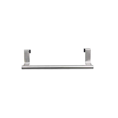 BESTONZON Handtuchhalter Edelstahl Handtuchstange über Tür Lagerregal Organizer für Badezimmer Küche Größe S (Silber)