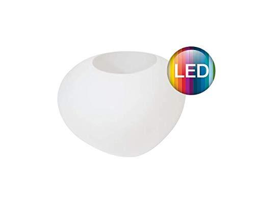 Degardo Storus VII Design-Blumentopf, 52,5cm x 48,5cm x 34cm - Ambientebeleuchtung - Outdoor Licht - Gartendeko (transluzent, LED RGB+W), PE-Pflanzgefäß als Außenbeleuchtung