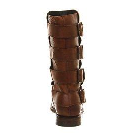 Leather lock Tan Stiefel Braun H Hudson Hoch schnalle By F4n8UqB