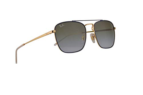Ray-Ban RB3588 Sunglasses Gold Top On Blue w/Light Blue Gradient Green Lens 55mm 9062I7 RB 3588