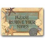 Individualisierte Please remove your shoes Fußmatte