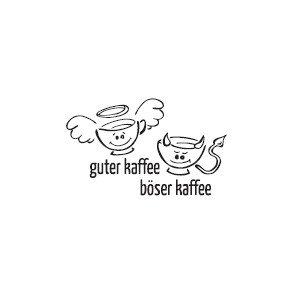 Preisvergleich Produktbild Küche dekoratives WANDTATTOO Böser Kaffee Guter Kaffee 23x40 cm (Weiß matt)