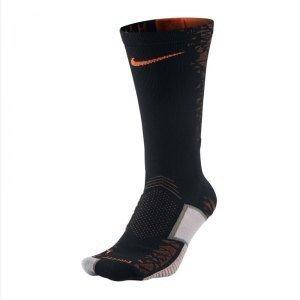 Nike Crew Socks Matchfit Hypervenom, Black/Total Orange, L, SX5027-081 (Nike Socks Fußball-elite)