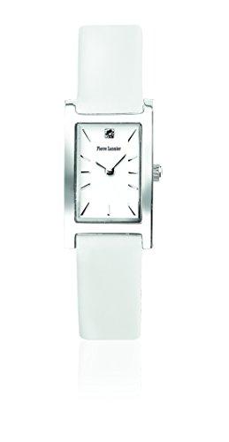 Pierre Lannier 001D600 - Reloj de pulsera mujer, piel, color blanco