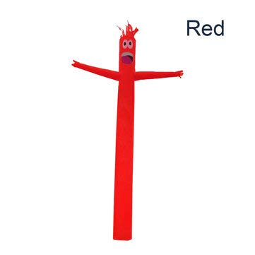 ExcLent Ciel Gonflable De Ciel De Danse D'Air De Ciel D'Air De Tube De La Publicité De 4M Décorations Farfelues De L'Homme De Vent Ondulé - rouge