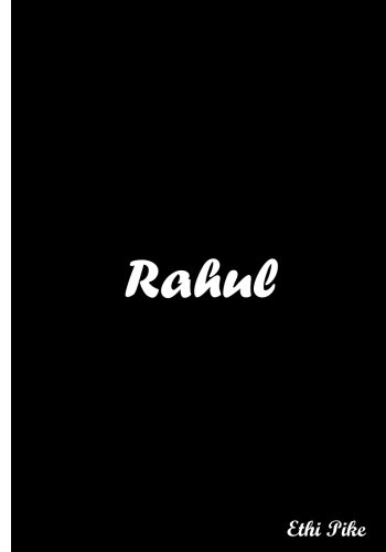 Rahul - Black Notebook / Extended Lines