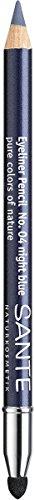 SANTE Naturkosmetik Kajal Eyeliner No. 04 night blue, Kajalstift, Farbintensive cremige Textur, Inklusive Smudger-Applikator, Vegan, 1,3g