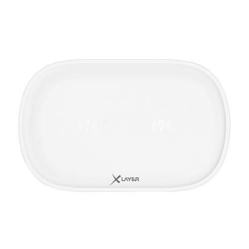 XLayer Wireless Ladegerät Charging Pad Family Double White Wireless Pad
