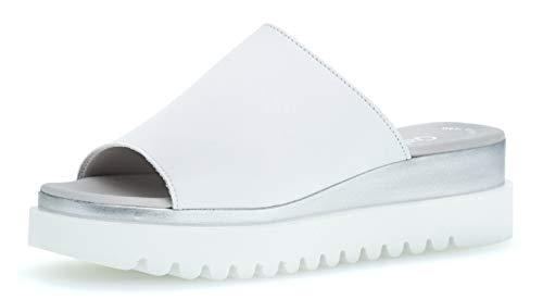 Gabor 23.613 Damen ClogsPantoletten,Clogs&Pantoletten, Frauen,Pantolette,Hausschuh,Pantoffel,Slipper,Slides,Best Fitting,Weiss,4 UK