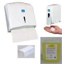 Handtuchspender+Schaumseifenspender+Schaumseife+Papierhandtuch im SET