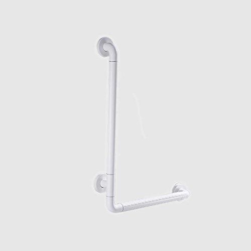 BSNOWF Handläufe WC Dusche Dusche Badezimmer Alter Mann Behinderte Barrierefrei Rutschfest Badezimmer L-Typ Handläufe L-Typ Geländer ( Farbe : Weiß , größe : B )