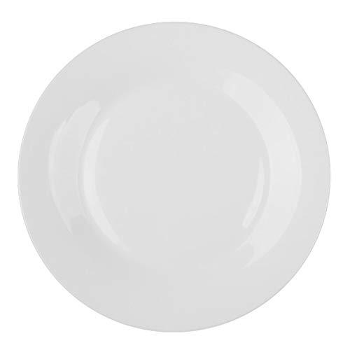 """Holst Porzellan BL 026 Teller flach 26 cm \""""Basic\"""", weiß, 26.5 x 26.5 x 2.5 cm, 6 Einheiten"""